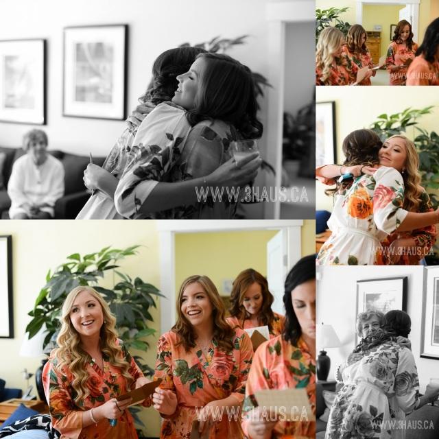 bridesmaid hugs