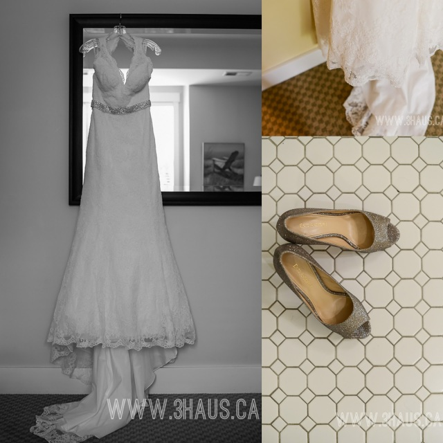 bridal gown details